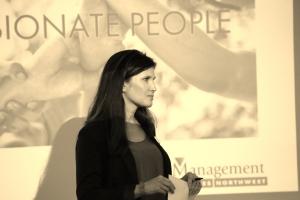 Janelle speaking on Leadership.